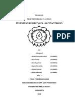 Penentuan Besi Dengan 1-10 Fenantrolin