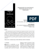 Organização de um Sistema de Produção em Células de Fabricação