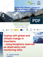 Coping with global and climate change in mountain-using Biosphere Reserves as observatory and monitoring sites