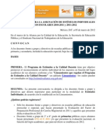 convocatoria estimulos 2011-2012