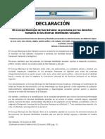 Declaración Derechos Humanos y Divers Id Ad Sexual San Salvador