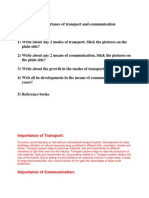 Communication and Transport