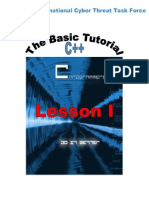 Tutorial Basic of C++ Lesson 1 En