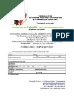 Formula Rio de Inscripcion Encuentro Mundial de Expertos en Turismo Etnico