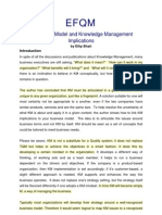 10 - EFQM - Knowledge Management Implications