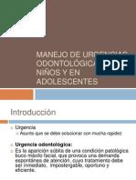Manejo de urgencias odontológicas en niños y en