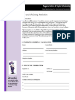 2012 BEF Application