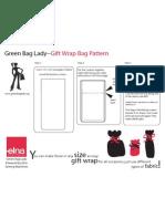 Green Bag Lady Gift Wrap Bag Pattern