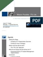 ITIL Lite Presentation