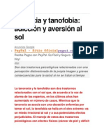 Anorexia y Tanofobia