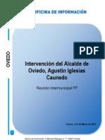 Reunión intermunicipal del PP. Intevención de Agustín I. Caunedo