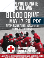 Blood Drive Flyer - Donate Win