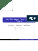 Worst-Case Value-at-Risk of Non-Linear Portfolios