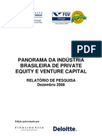 Panorama Da Industria Brasileira de Private Equity e Venture Capital_2008