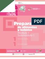 Guía Formativa Profesional, PREPARACION de ALIMENTOS y BEBIDAS, 1-1. CECyTEH 2012