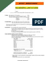 B737- Generic Limitations (NG)