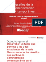 Taller Desafios de La Admin is Trac Ion Contemporanea
