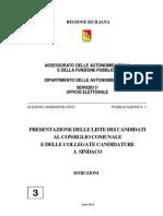 Istruzioni presentazioni liste 2012