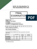 A123 Semester I Specimen Exam Aoua[1].Com SWORD   Mr.JEHAD 65549105
