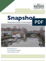 Taking District Energy To Urban Neighborhoods | Snapshot | The Sallan Foundation