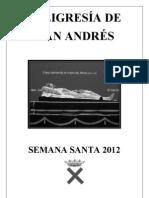 Programa San Andrés Semana Santa 2012