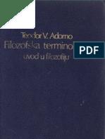 Teodor Adorno Filozofska Terminologija Uvod u Filozofiju