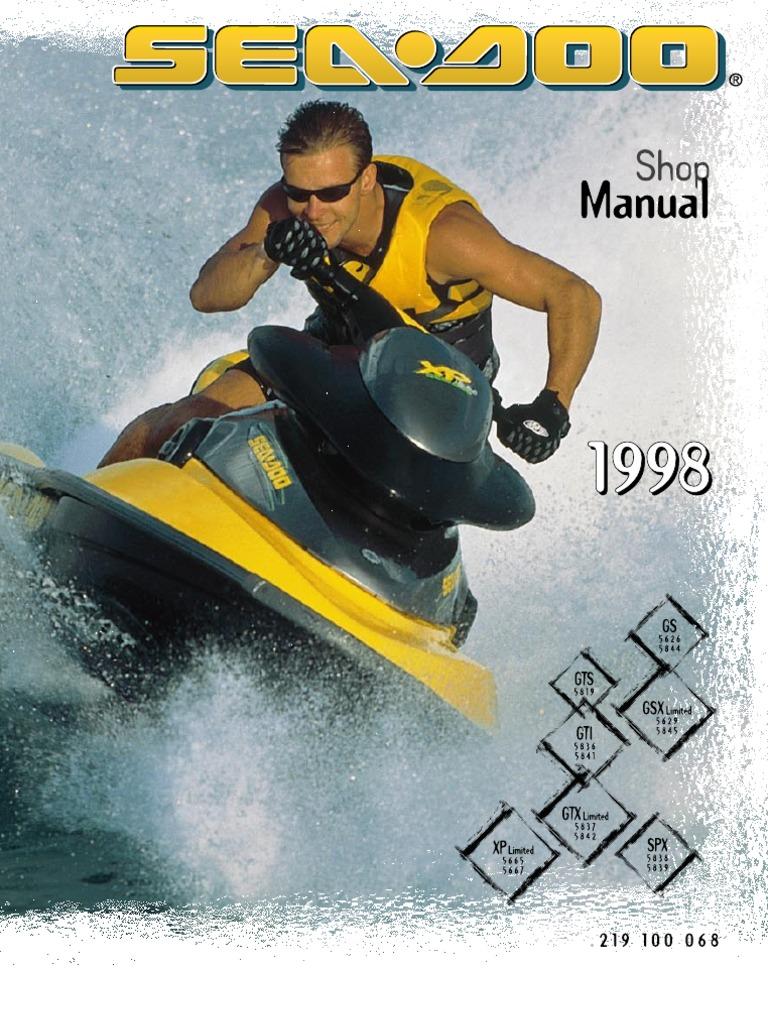 1998 sea doo service manual 2 carburetor motor oil rh scribd com Sea-Doo Bombardier GTX Sea-Doo Bombardier GTX