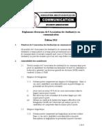 Règlements électoraux 2012 - FRA