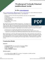 Slim jJm Omnidirectional Aerial Construction Details