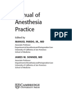 Manual of Anesthesia Practice