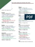 Mission San Luis Rey Parish Confirmation Calendar 2011