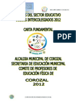 Juegos Intercolegiados Corozal 2012 - Copeficor - Carta Fundamental