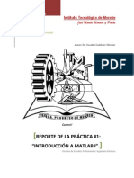 01 Reporte, Introducción a Matlab I