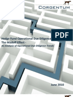Hedge Fund Operational Due Diligence Madoff Effect Corgentum