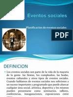 eventos sociales  presentacion