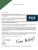 """Open Letter to """"Judge"""" Voorhees to free Bernard von Not Haus"""