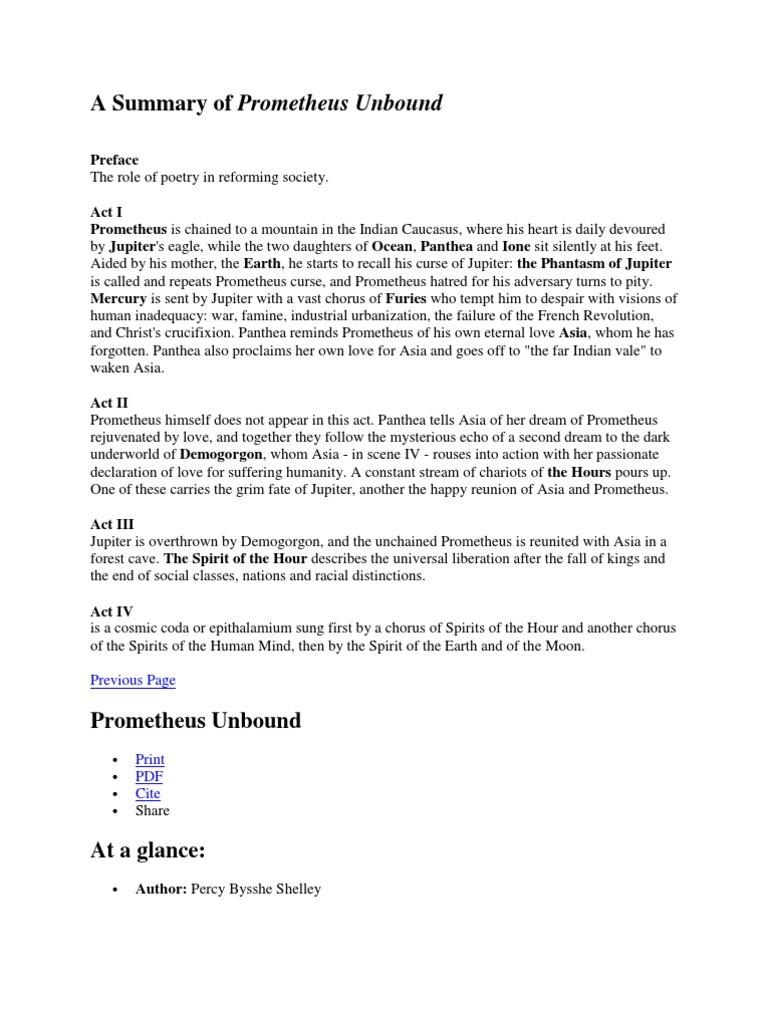 Prometheus Story Pdf