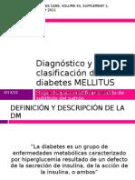 Diagnóstico y clasificación de la DM