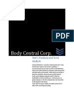 Body Central Corp. Investment Analysis (BODY)