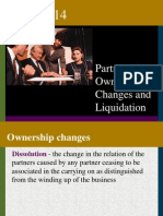 14- Partnerships- Ownership Changes and Liquidation