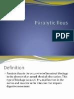 Case Pres Paralytic Ileus