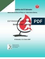 Estandares de Trabajo en Banco de Sangre - Republica de El Salvador