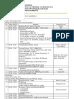 Rundown Acara Seminar Nasional INOVASI KPI 2011