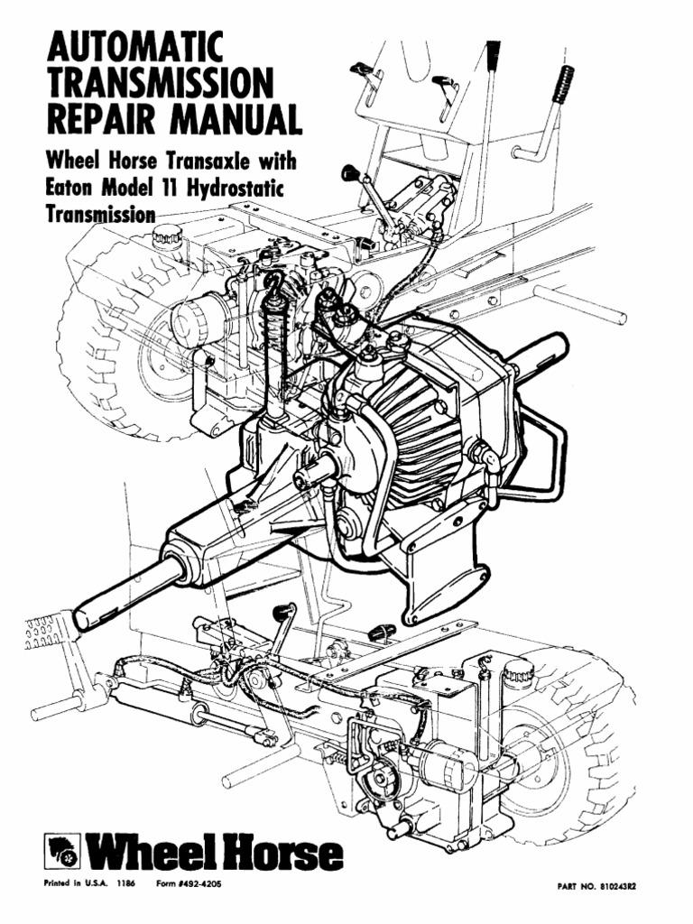 Eaton-11 Wheel Horse Automatic Transmission Service Manual | Transmission  (Mechanics) | Axle