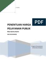 Penentuan Harga Pelayanan Publik
