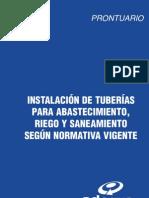 instalación de tuberia para abastecimiento, riego y saneamiento de aguas segun normativa vigente, madrid