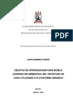 Fontes L. B. Objetos de aprendizagem para mobile learning em Ambientes LMS
