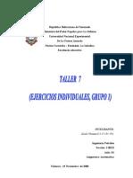 Taller 7 (Ejercicios Individuales Grupo 1)