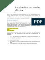 Deshabilitar y Habilitar Una Interfaz de Red en Debian