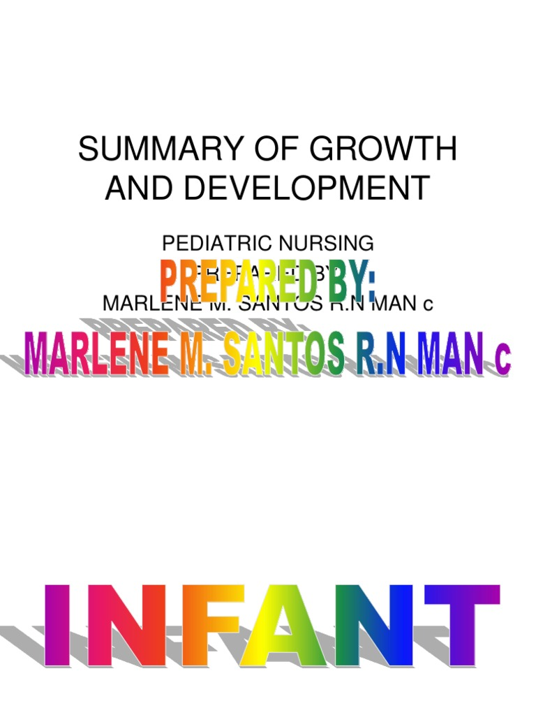 summary of growth and development